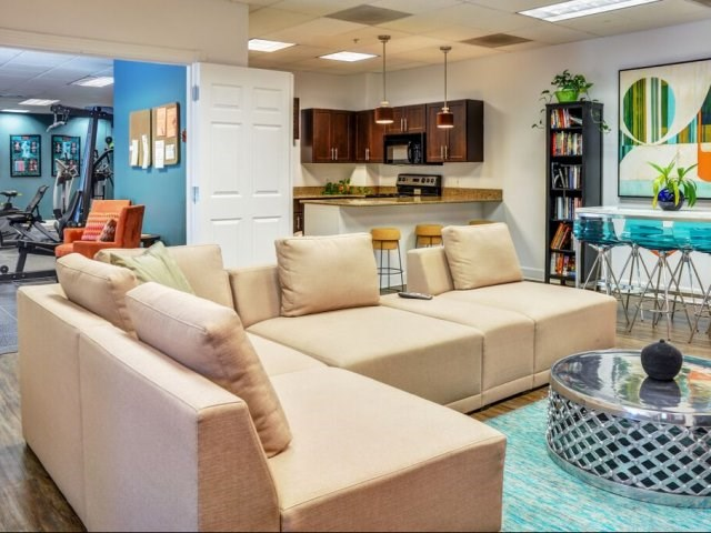 Resident Lounge with Kitchen Area