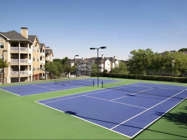 2 Lit Tennis Courts