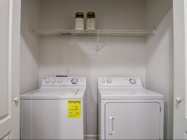 Full-Size Washer & Dryer in Every Apartment