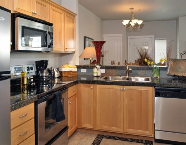 1BD/1BA Kitchen Area