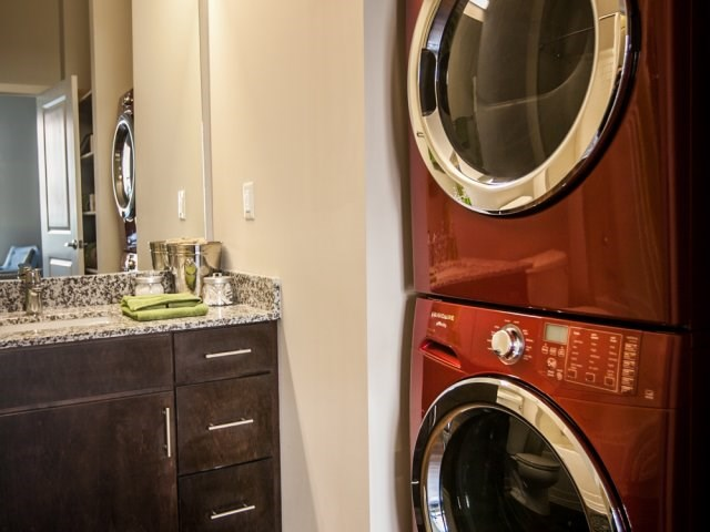 Full size front load washer and dryer in every Mozzo apartment home