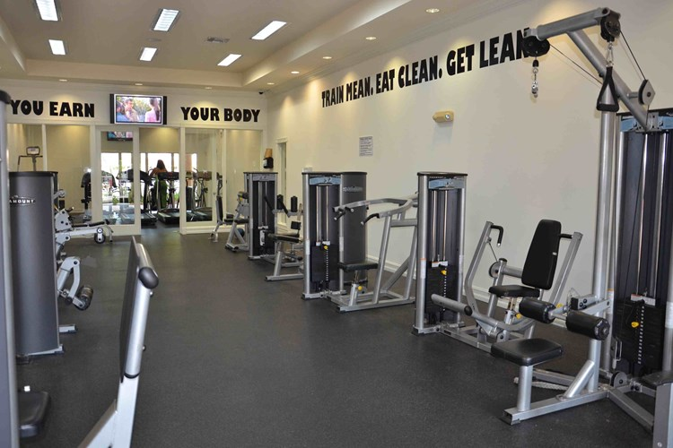 24 hr Health and Fitness center with free weights