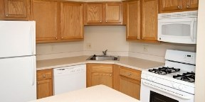 Remodeled Kitchens with Oak Cabinets and all Appliances