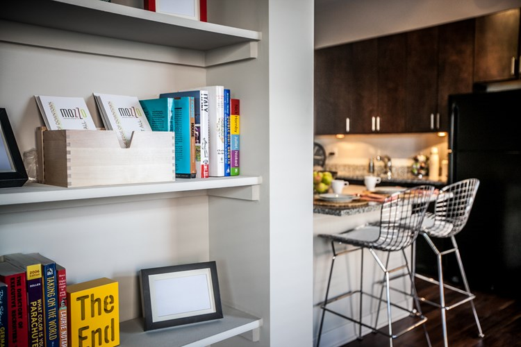 Shelves in Mozzo Luxury Apartments