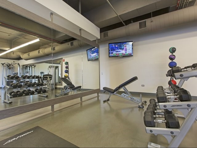 Free Weight Area in Fitness Center