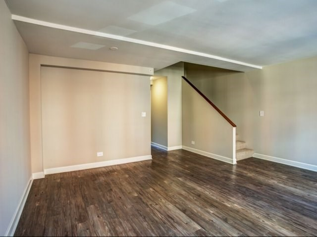 Wood-Like Flooring in Townhome Apartment