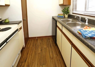 Kitchens Feature Wood-Grain Flooring